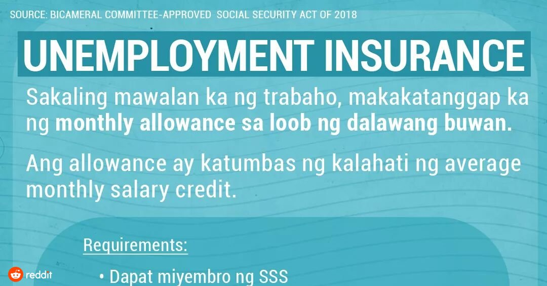 Jobless insurance from the SSS