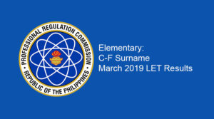 Elem-C-F LET Results