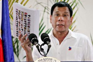 Duterte is looking at the idea of the purging of the party-list system