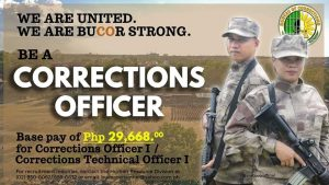 The BuCOR is hiring Corrections Officer I and Corrections Technical Officer I