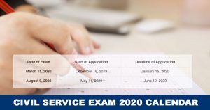 Civil-Service-Exam-Schedule 2020