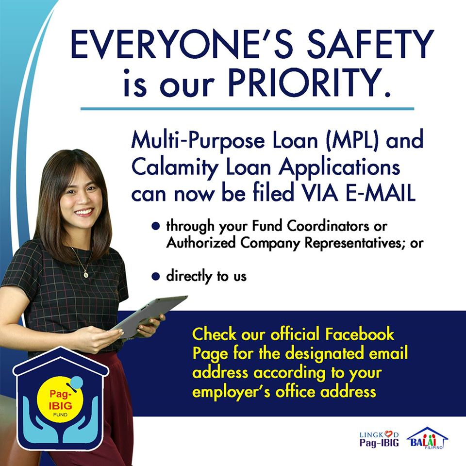 Apply for the MLP and the Pag-IBIG Calamity Loan Online