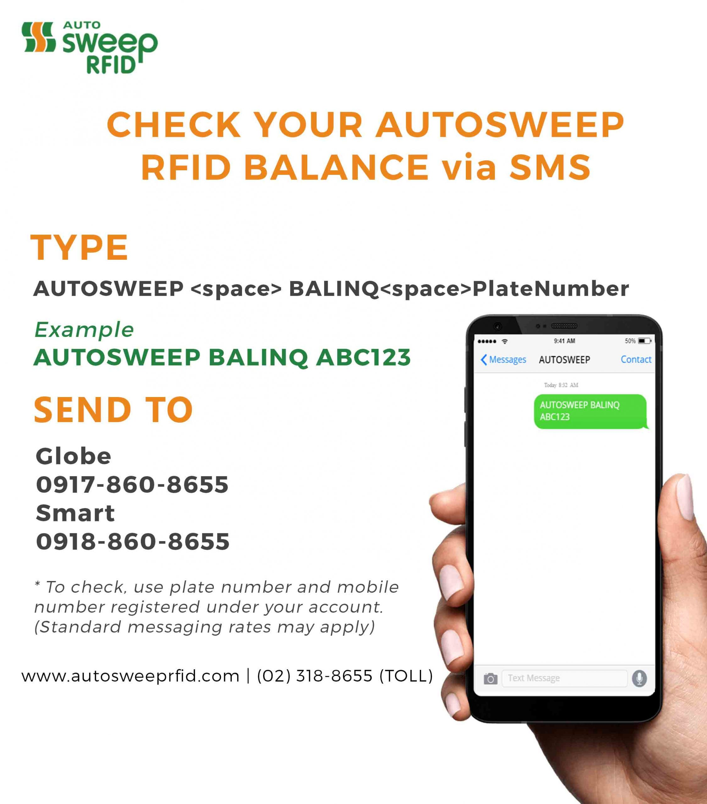 Check Your RIFD Balance Online and Through SMS!